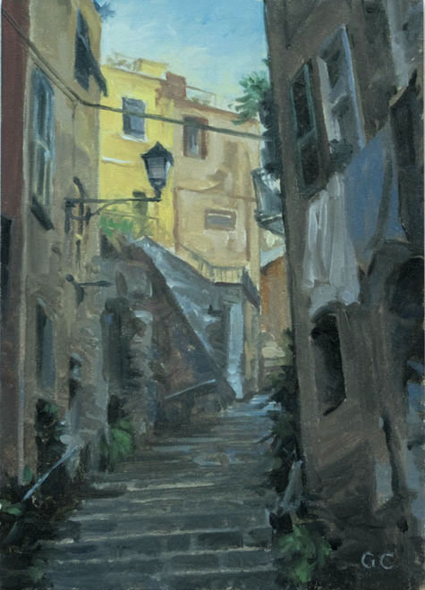 monterosso winding steps